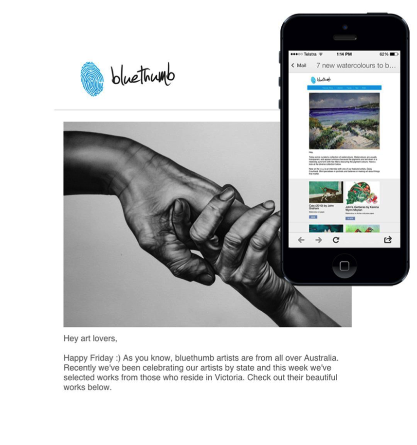 Featured Email: Bluethumb