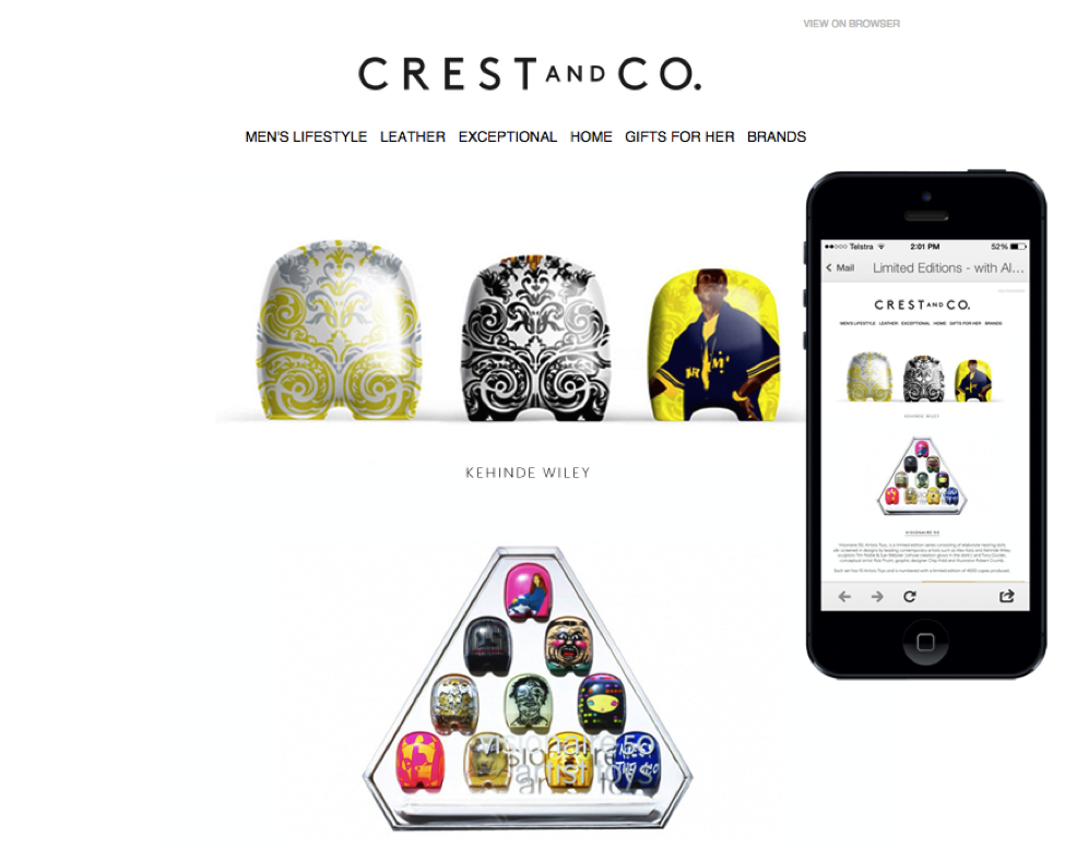 Featured Email: Crest and Co