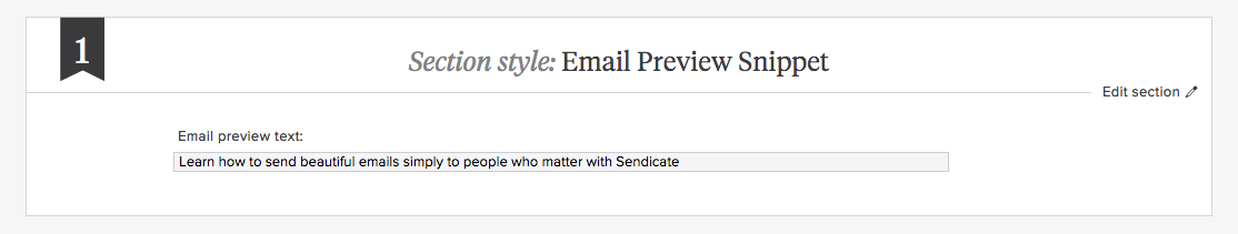 Email Snippet Preview by Sendicate